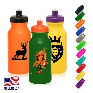 Plastic Water Bottles - 20 oz Sports Bottle w/ Custom Logo
